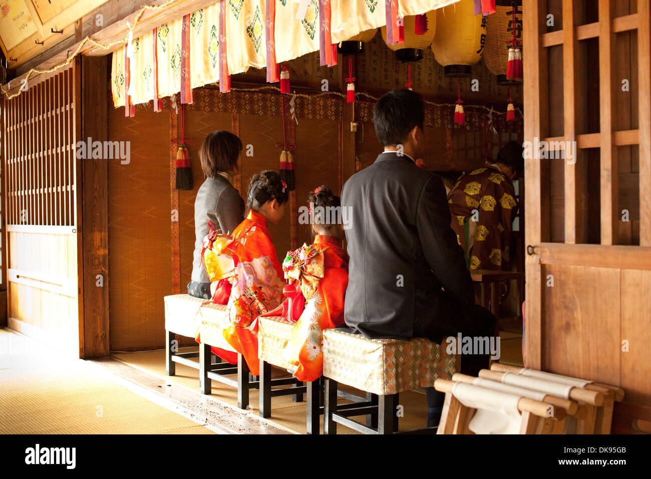 Shichi-go-san cerimonia giapponese Immagini Stock