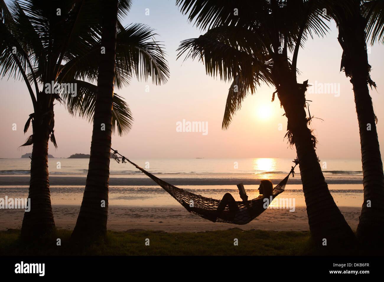 Vacanze in spiaggia Immagini Stock