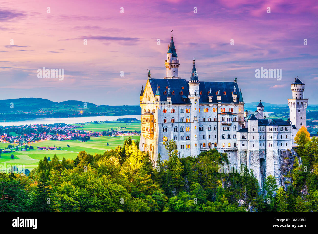 Il Castello di Neuschwanstein in Germania. Immagini Stock