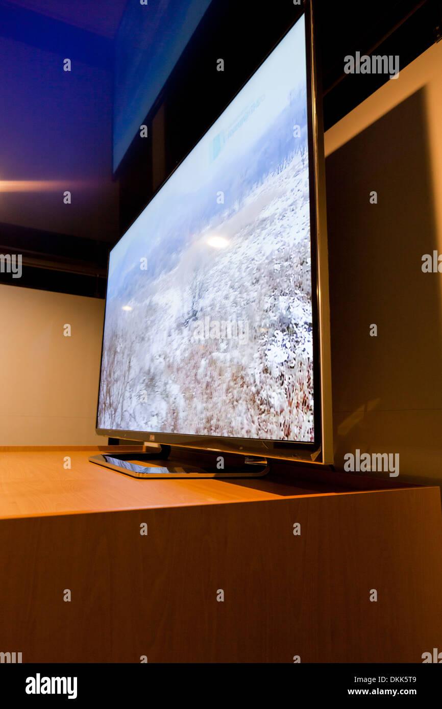 Grandi LG 3D TV a schermo piatto - Corea del Sud Foto Stock