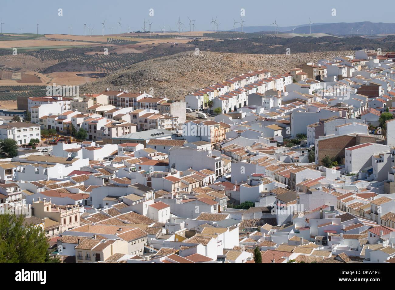 Teba, uno dei villaggi bianchi (Pueblos Blancos) di Andalusia, Spagna Immagini Stock