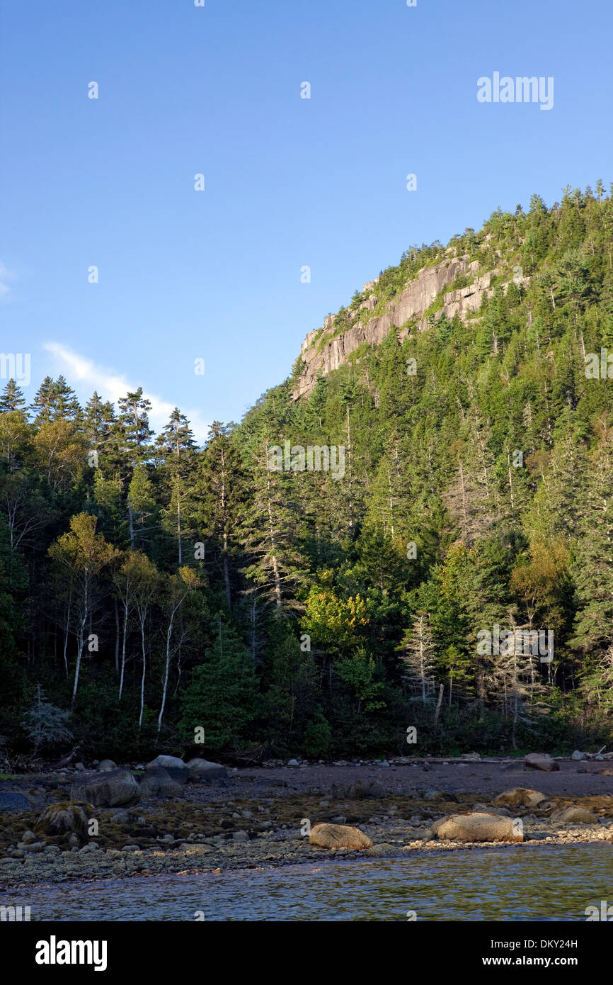 Valley Cove, Somes Sound, isola di Mount Desert, Parco Nazionale di Acadia, Maine Immagini Stock