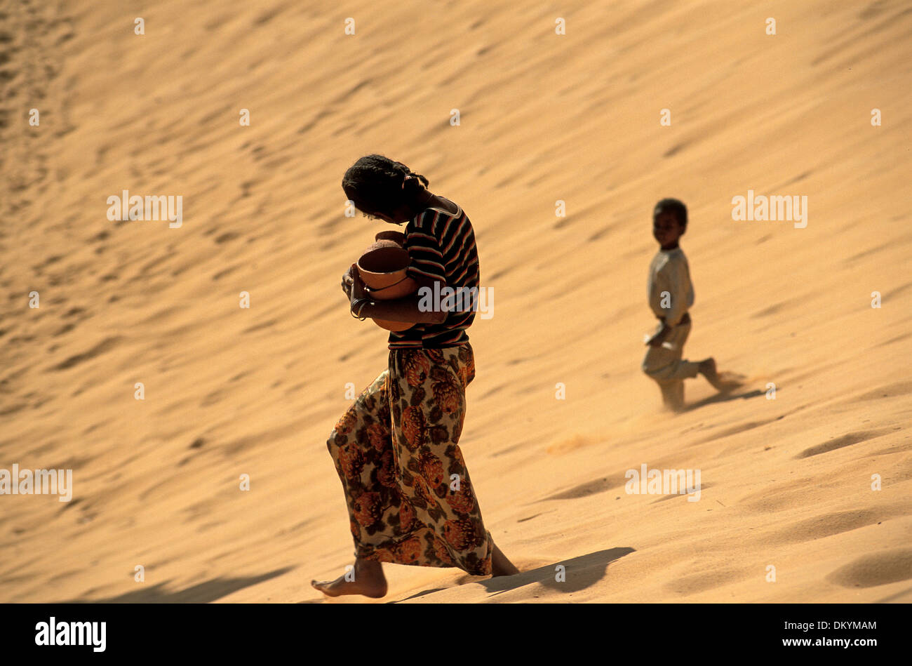 Popolazione Tuareg di Timimoun in Algeria. Immagini Stock