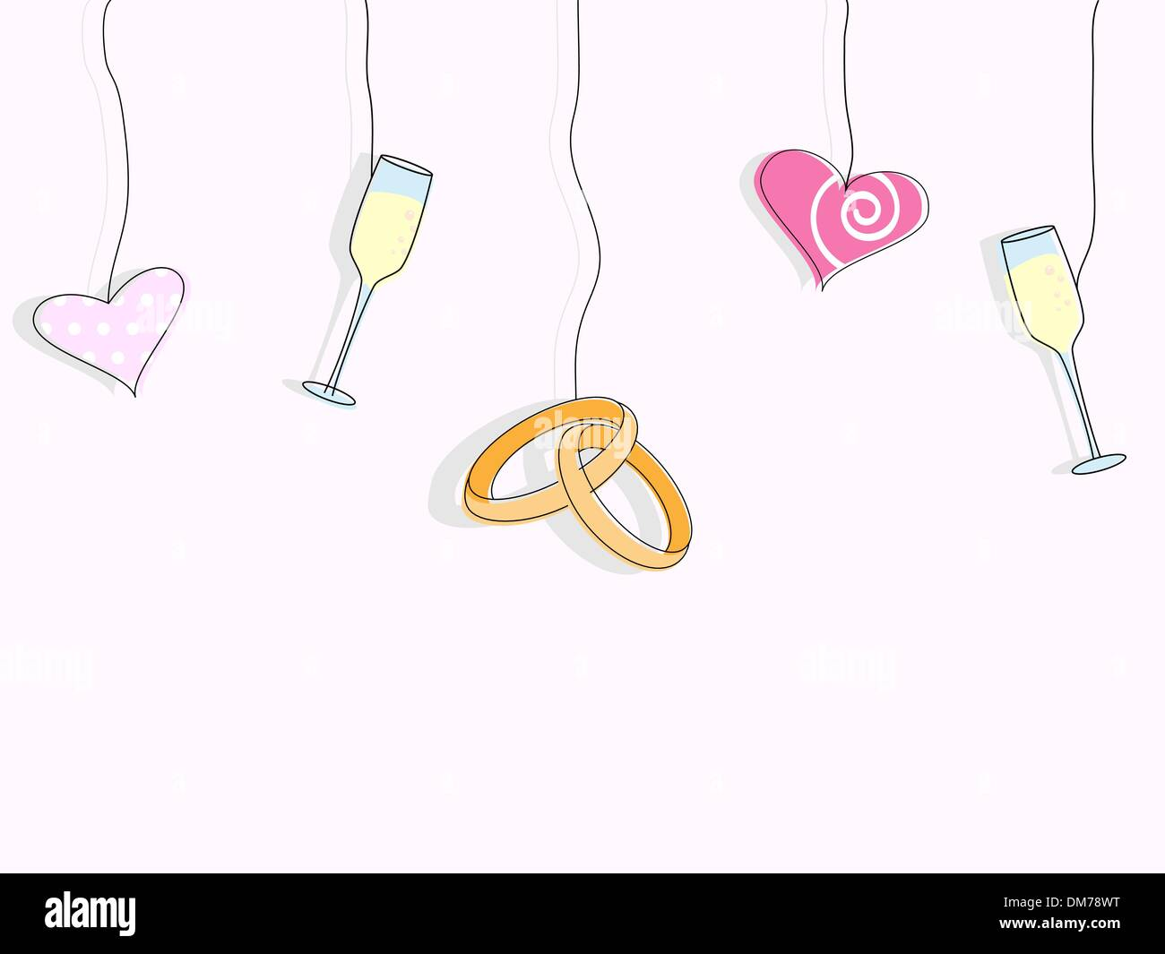 Invito di nozze Immagini Stock