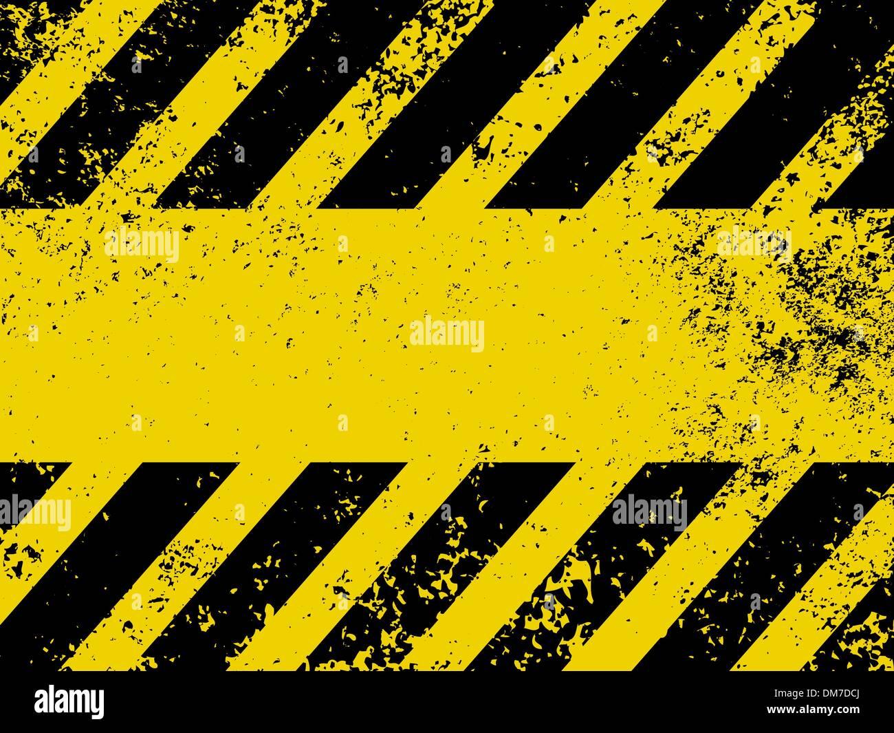 Un grungy e usurate strisce pericolo texture. EPS Immagini Stock