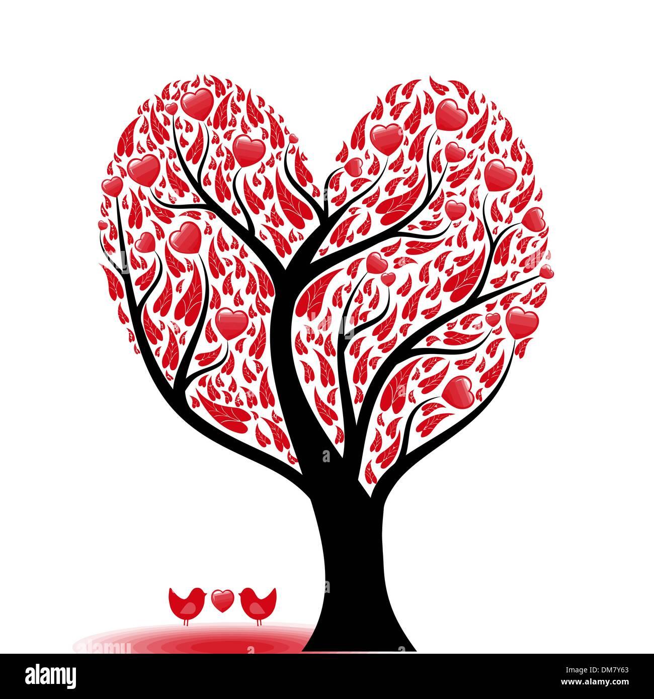 Albero di amore Immagini Stock