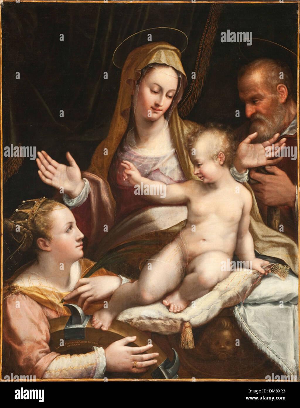 La Santa Famiglia con Santa Caterina di Alessandria 2011.2 Immagini Stock