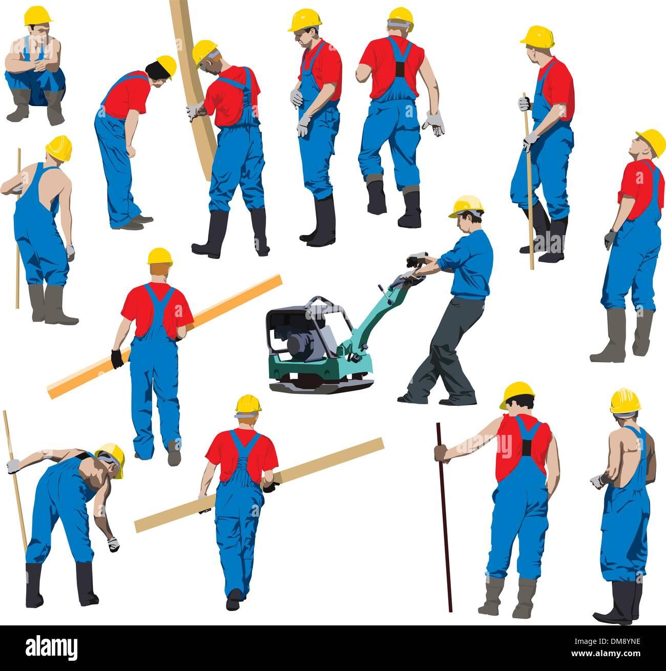 Lavoratori edili Immagini Stock