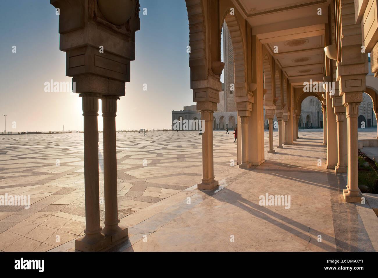 Esterno della moschea di Hassan II, Casablanca, Marocco, Africa Immagini Stock