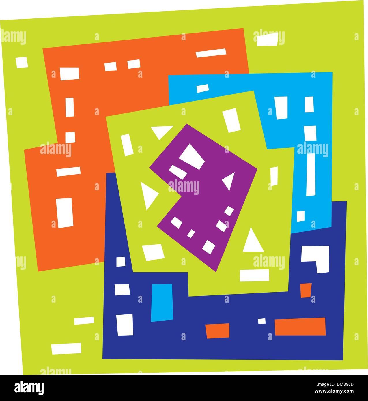 Abstract forme geometriche Immagini Stock