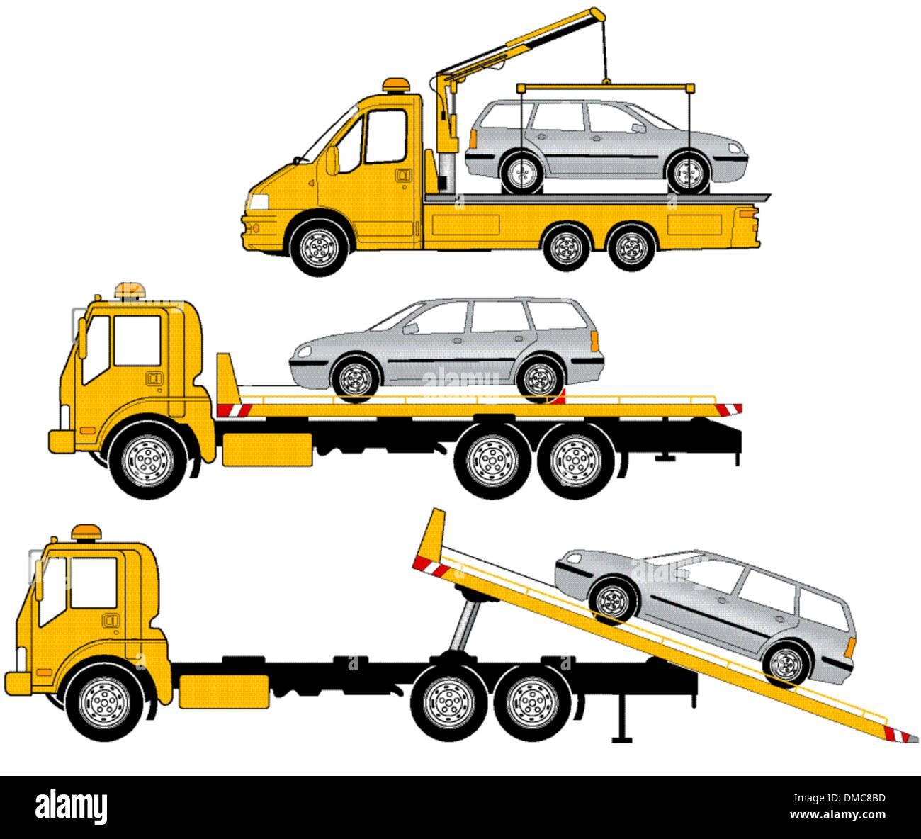 Camion di rimorchio Immagini Stock