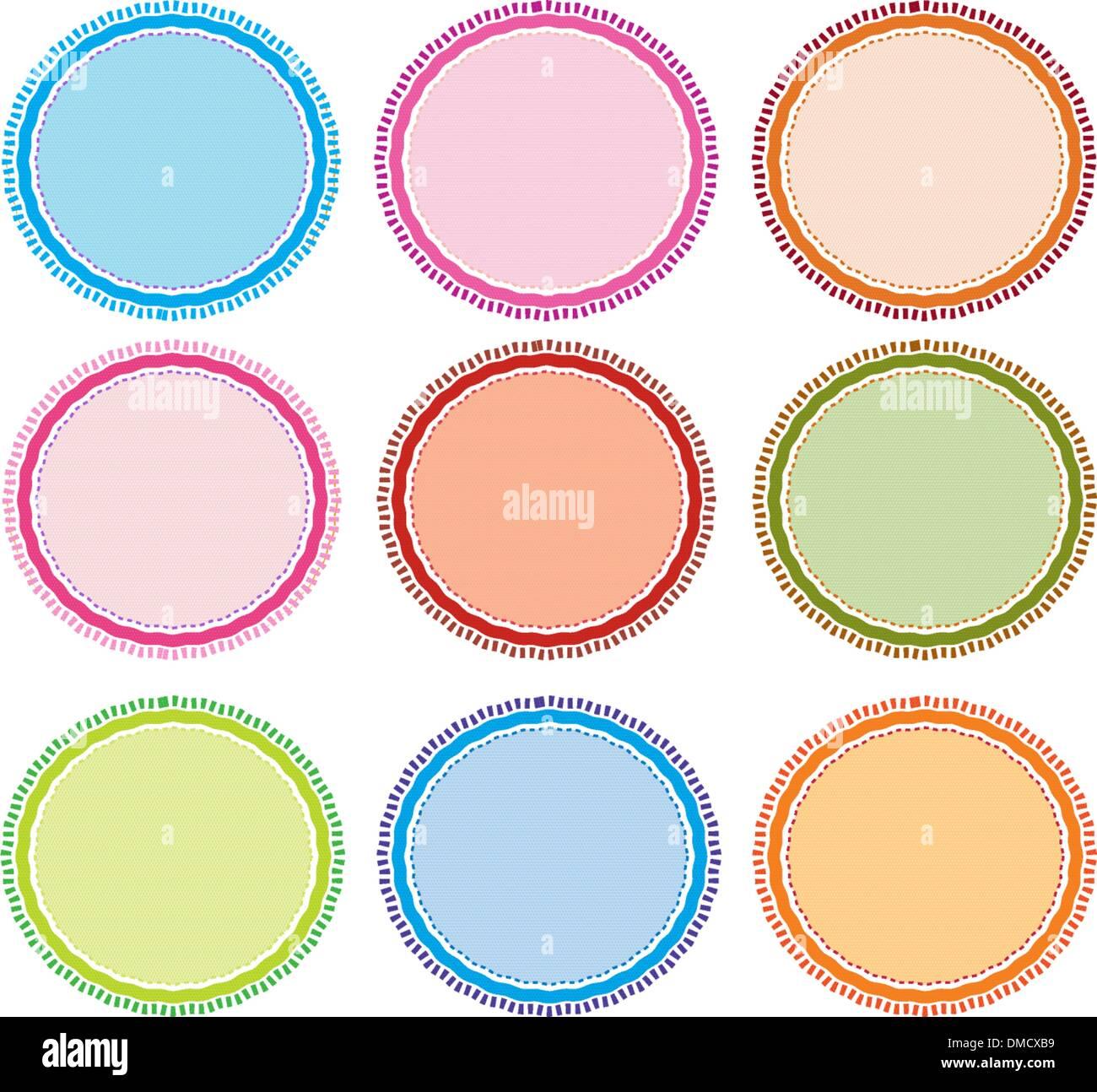 Cornici Colorate Per Foto illustrazione colorata set di cornici di cerchio per la