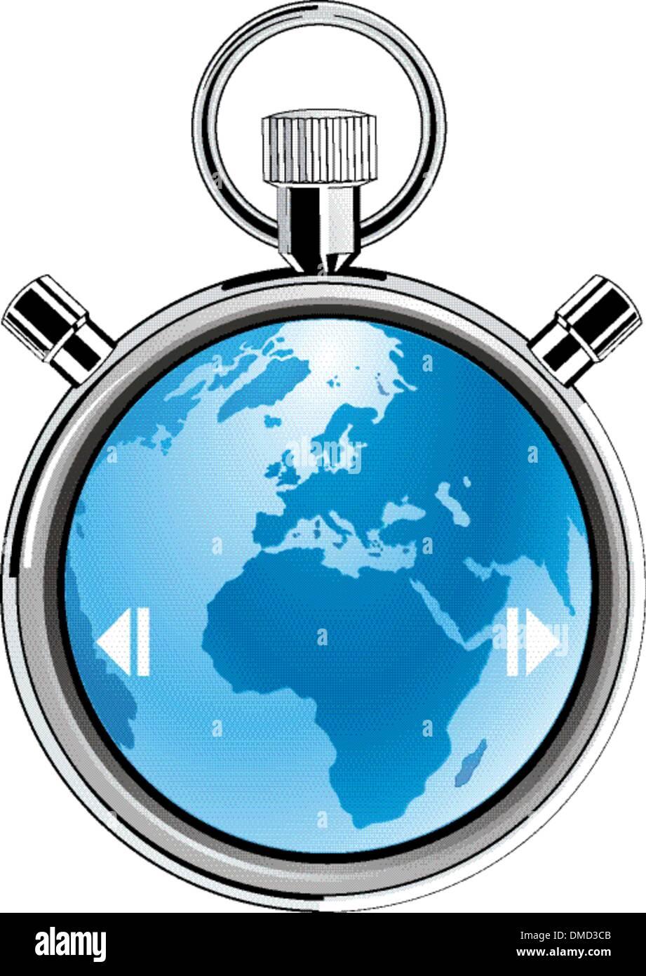 terra di cronometro Immagini Stock