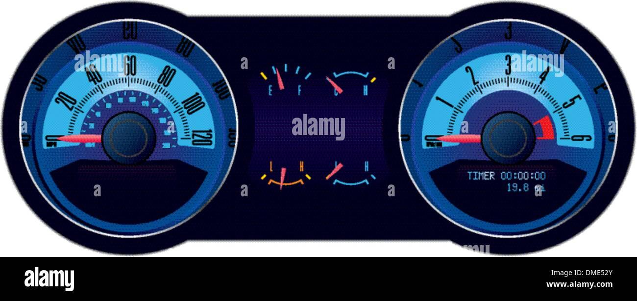 Isolato Racing Car tachimetro Immagini Stock