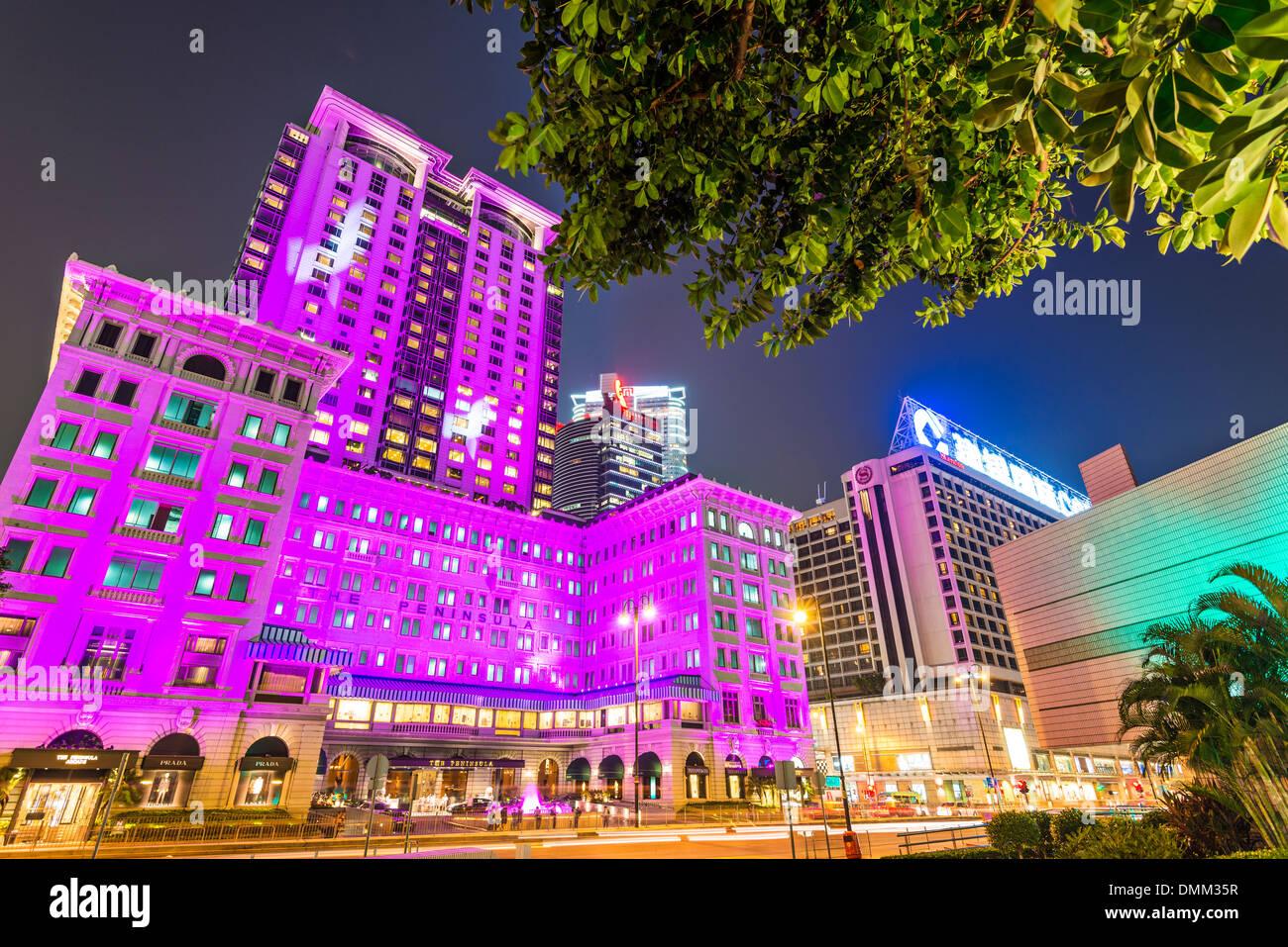 Il Peninsula Hotel di Hong Kong, Cina. Immagini Stock