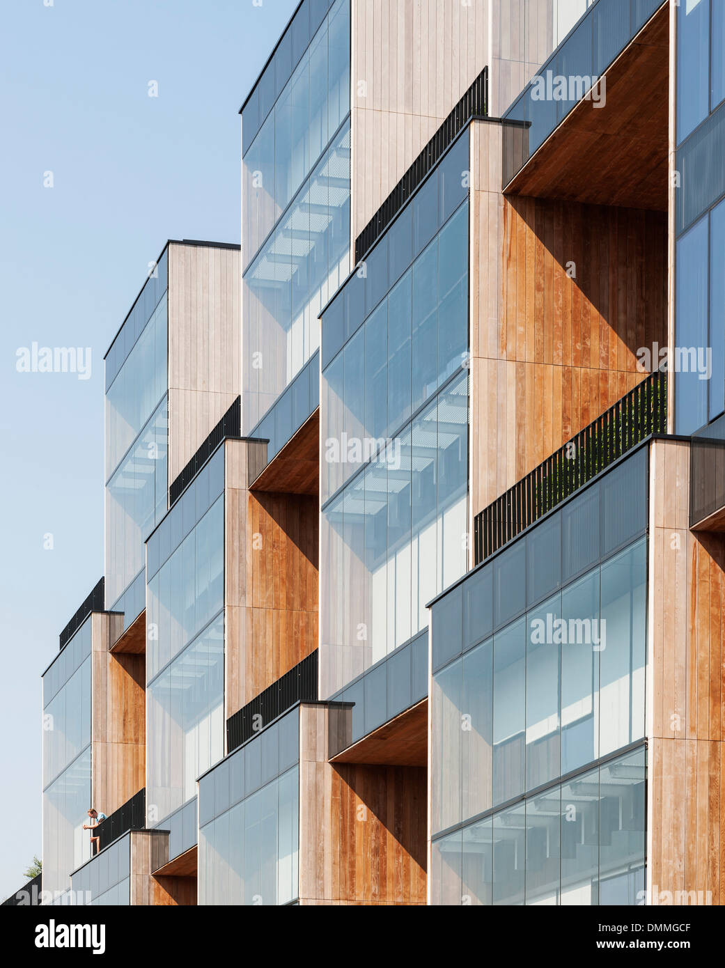 Edificio di pixel Allegro HQ, Poznan, Polonia. Architetto: JEMS Architekci, 2013. Immagini Stock