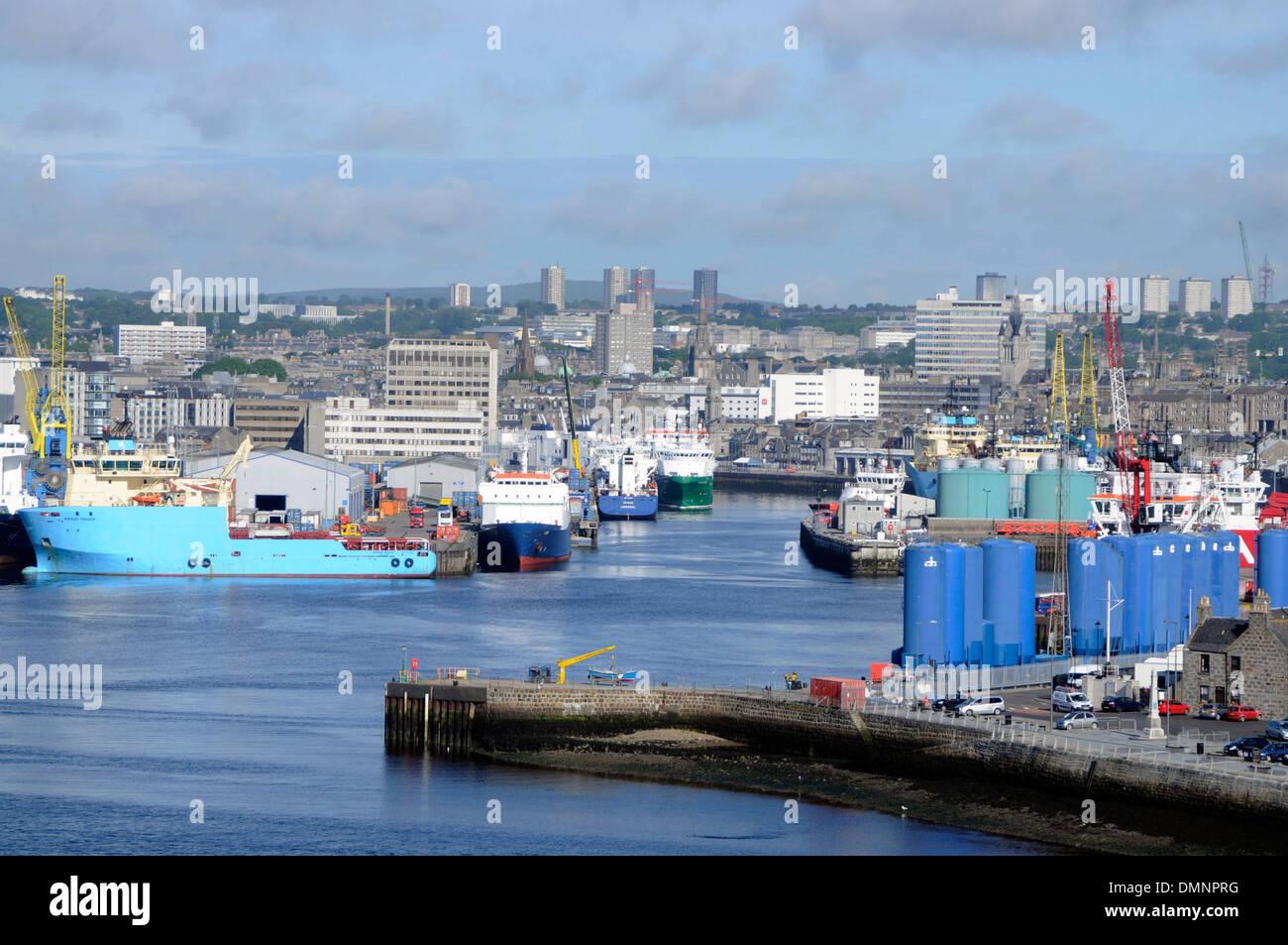 La pesca di ingegneria Servizi offshore aberdeen Immagini Stock