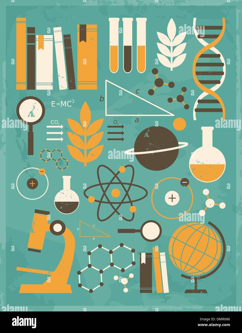 Scienza e Istruzione raccolta Immagini Stock