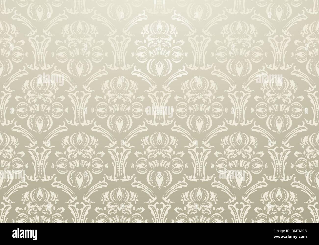 Carta da parati tessili ornamento warm grey Immagini Stock