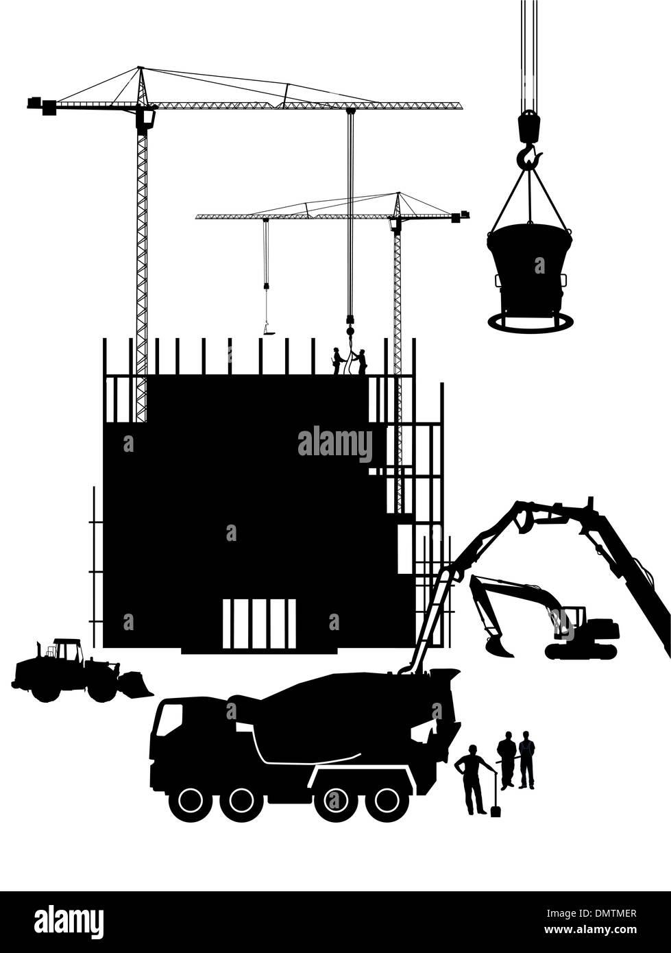 Costruzione in cemento Immagini Stock