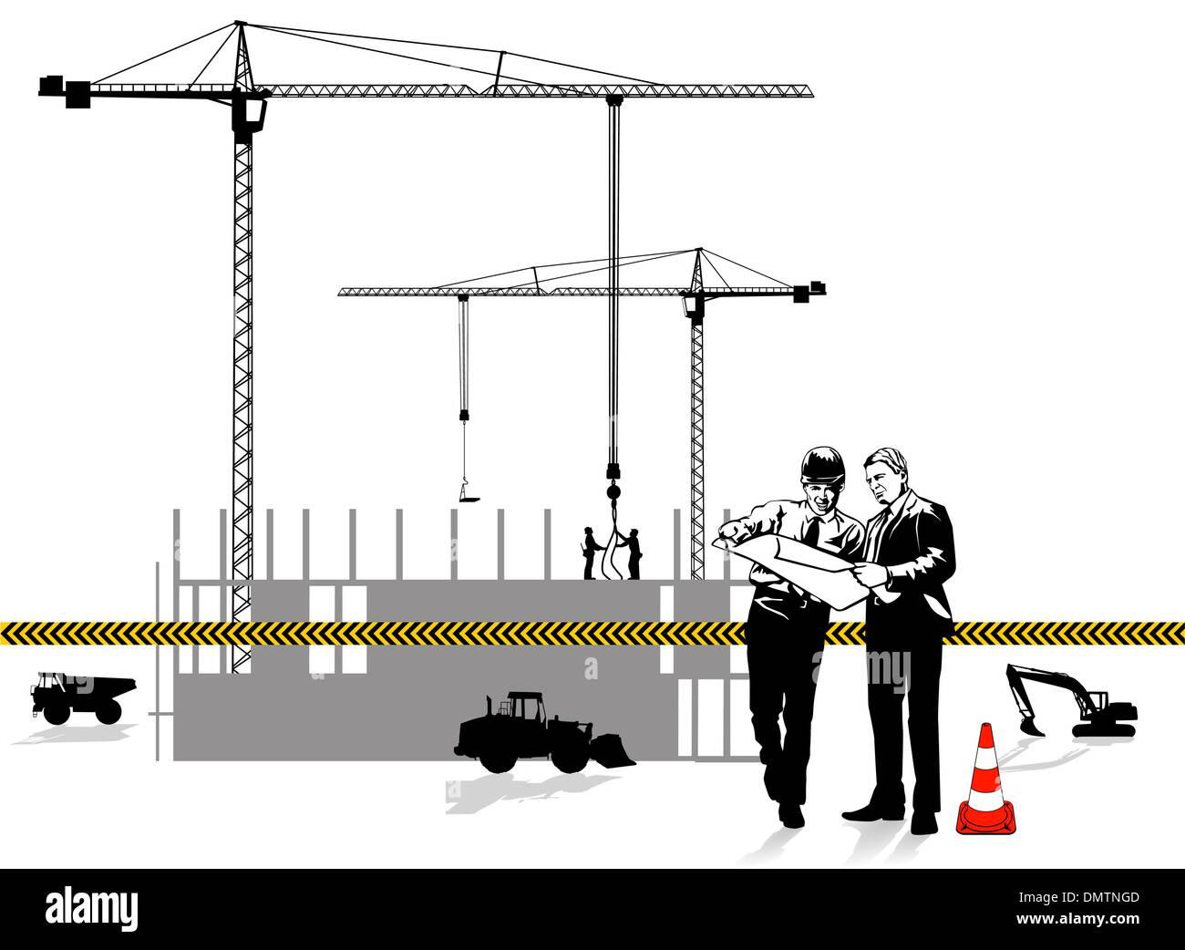 Architetto e costruzione Immagini Stock