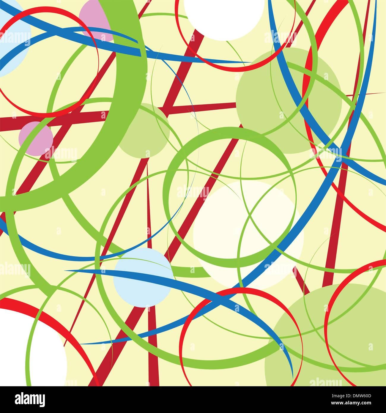 Abstract cerchi e linee sullo sfondo Immagini Stock