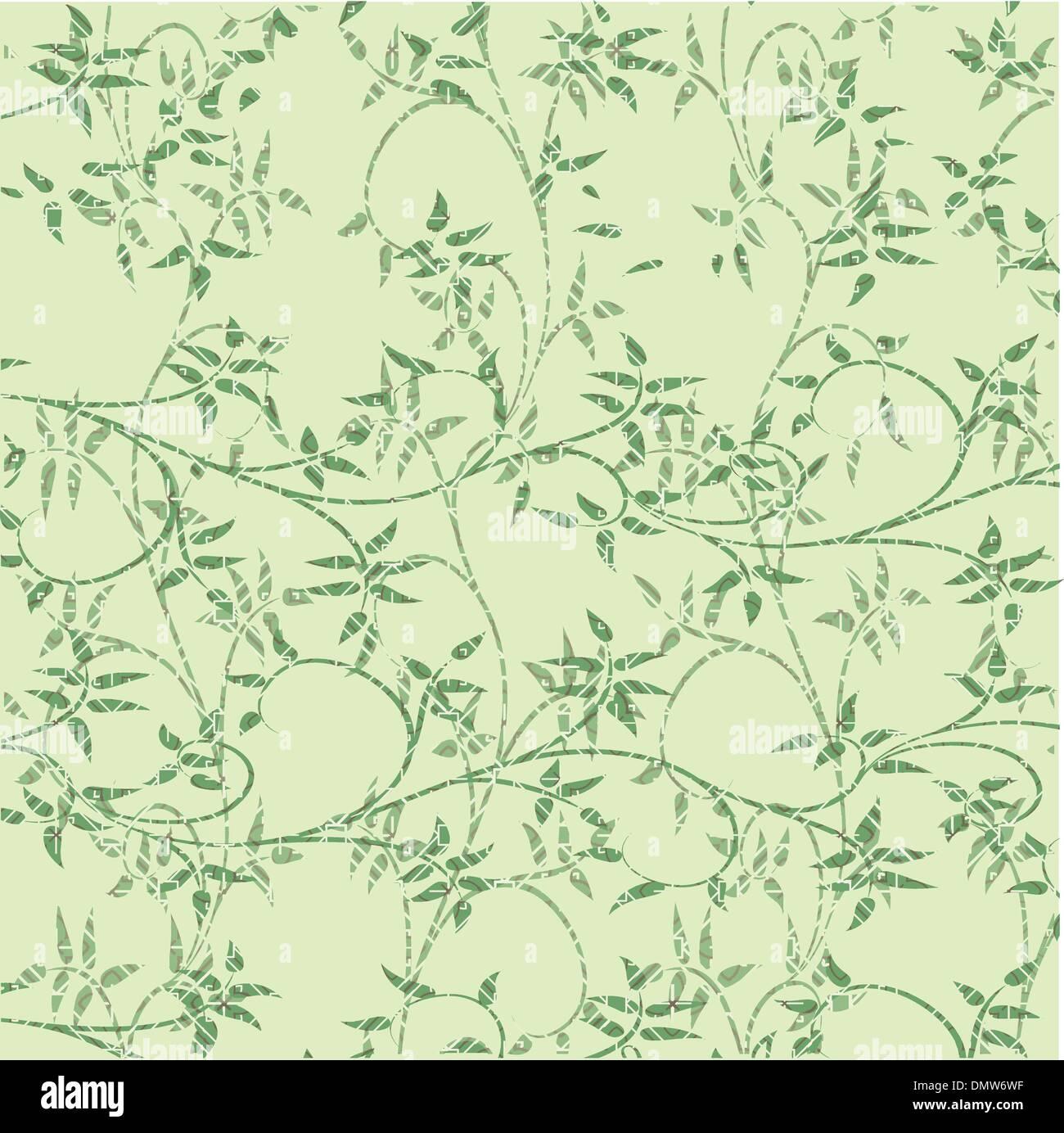 Foglie verdi sfondo decorativo Illustrazione Vettoriale