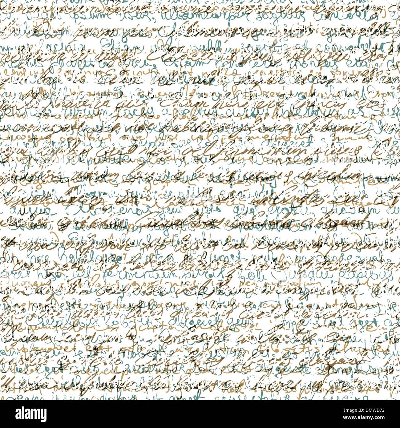 Seamless astratto modello di scrittura. Sfondo vettoriale EPS10 Immagini Stock