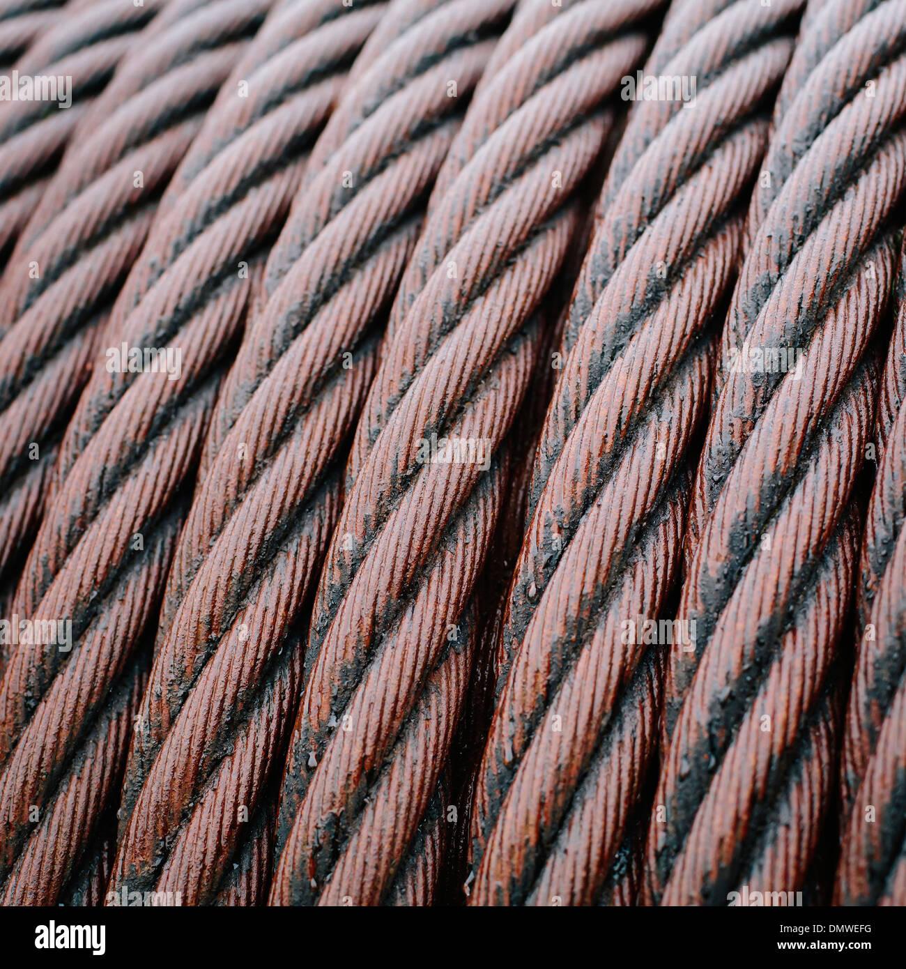 Close up di acciaio industriale cime archiviate ordinatamente. Immagini Stock