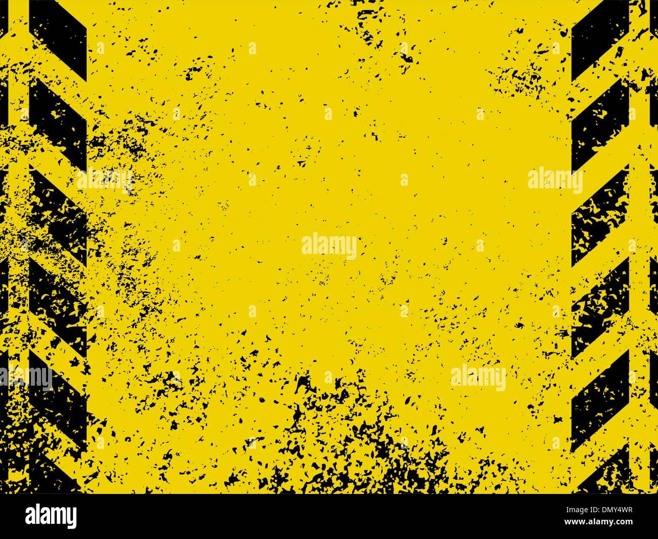 Grungy e usurate strisce pericolo texture. EPS 8 Immagini Stock