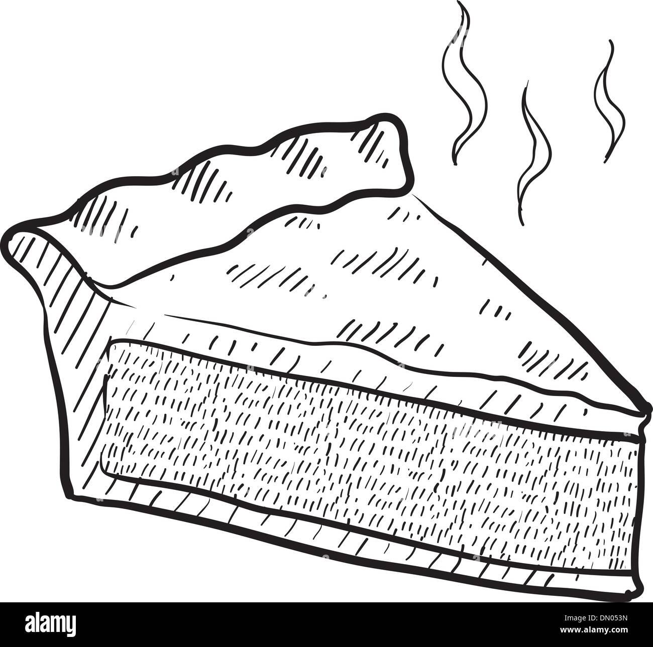 Fetta Di Torta Disegno Vettoriale Illustrazione Vettoriale 64542905