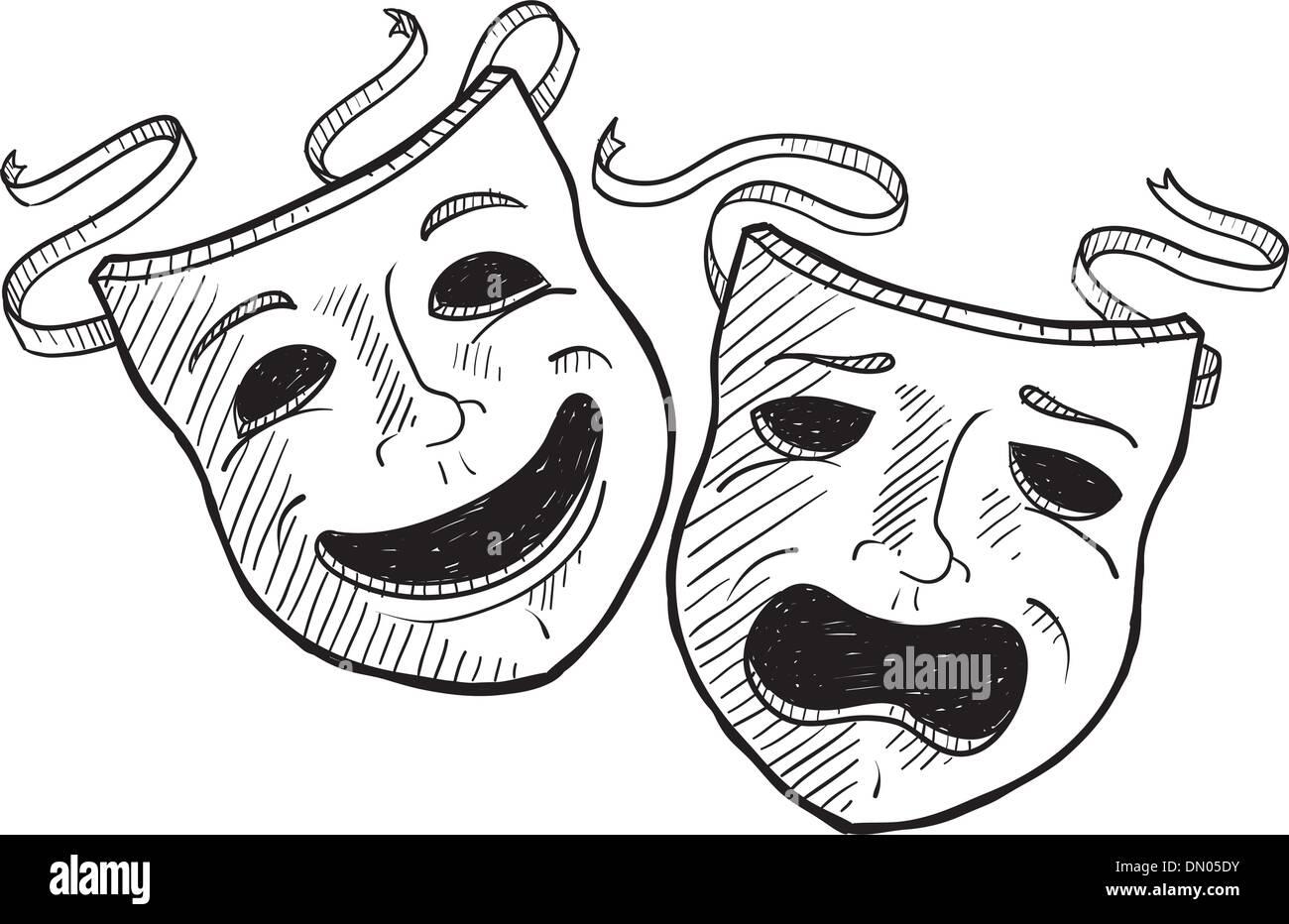cerca ufficiale dettagliare prevalente Maschere Teatrali disegno vettoriale Illustrazione ...