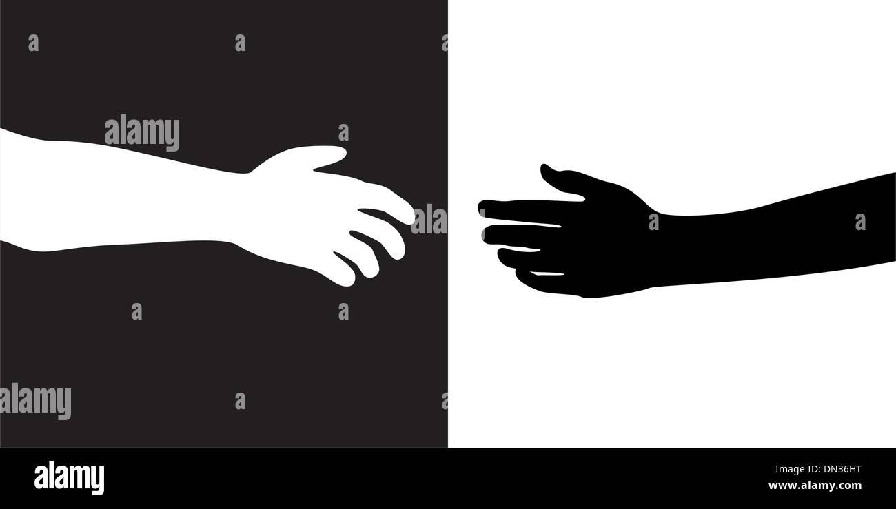 Due mani vettore Illustrazione Vettoriale