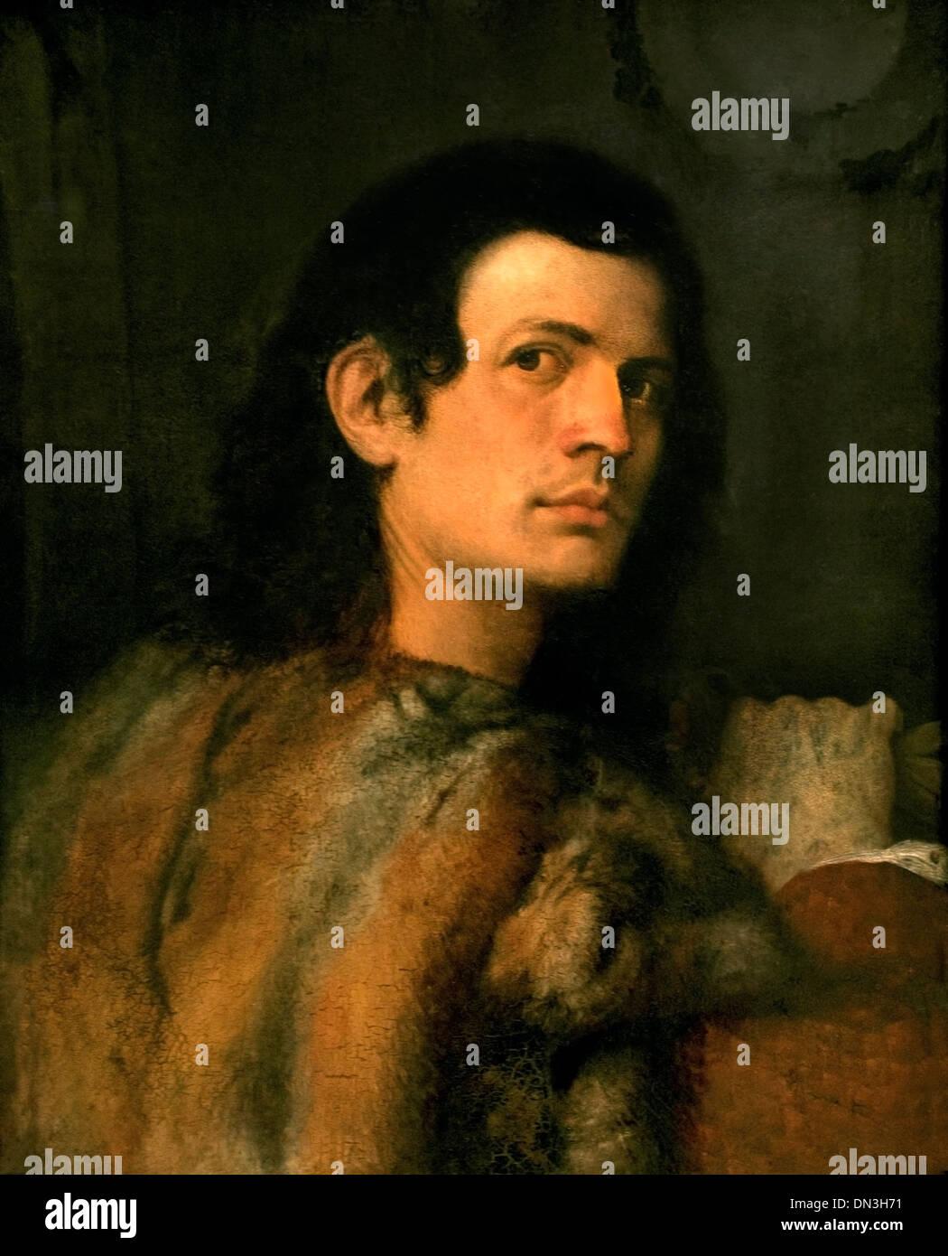Ritratto di un giovane uomo di Giorgione 1477 - 1510 Italia Italiano Immagini Stock