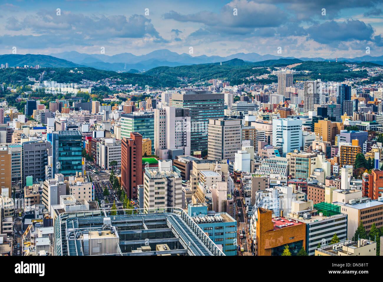 Sendai, Giappone cityscape Immagini Stock