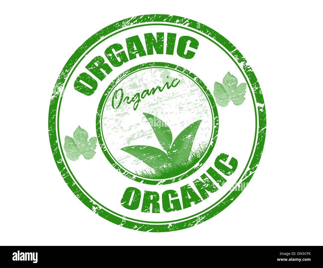 Bollo organico Immagini Stock