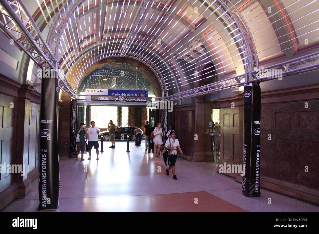 La stazione centrale di sydney nsw 2000 australia. il 19 dicembre