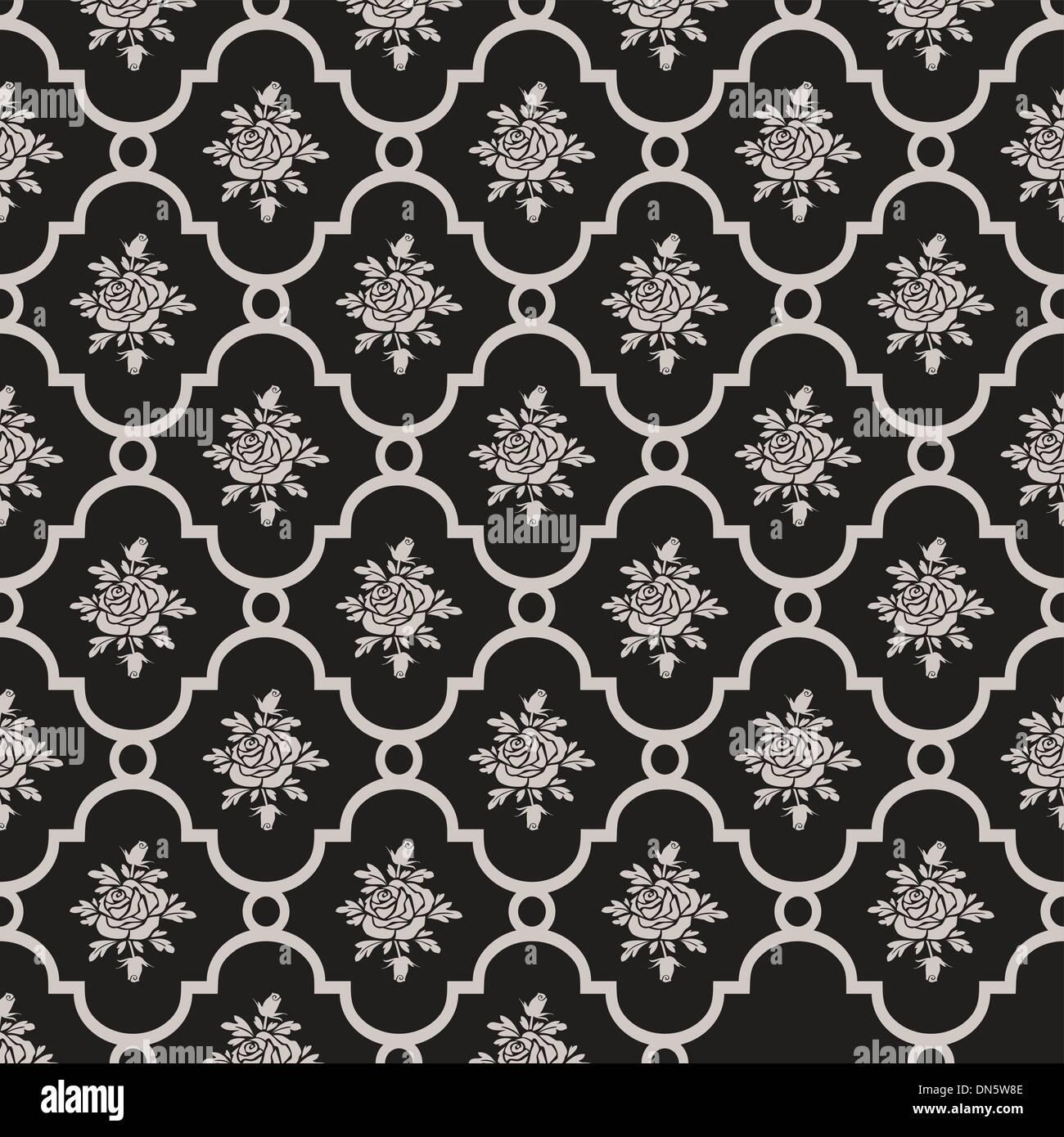 Vector roses pattern senza giunture Immagini Stock