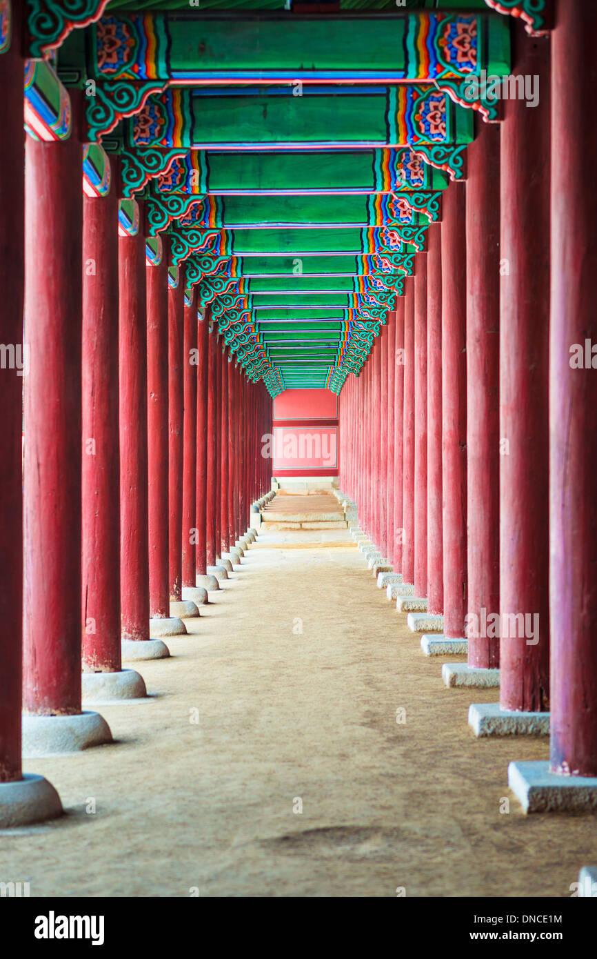 Il Palazzo Gyeongbokgung motivi a Seul, in Corea del Sud. Immagini Stock