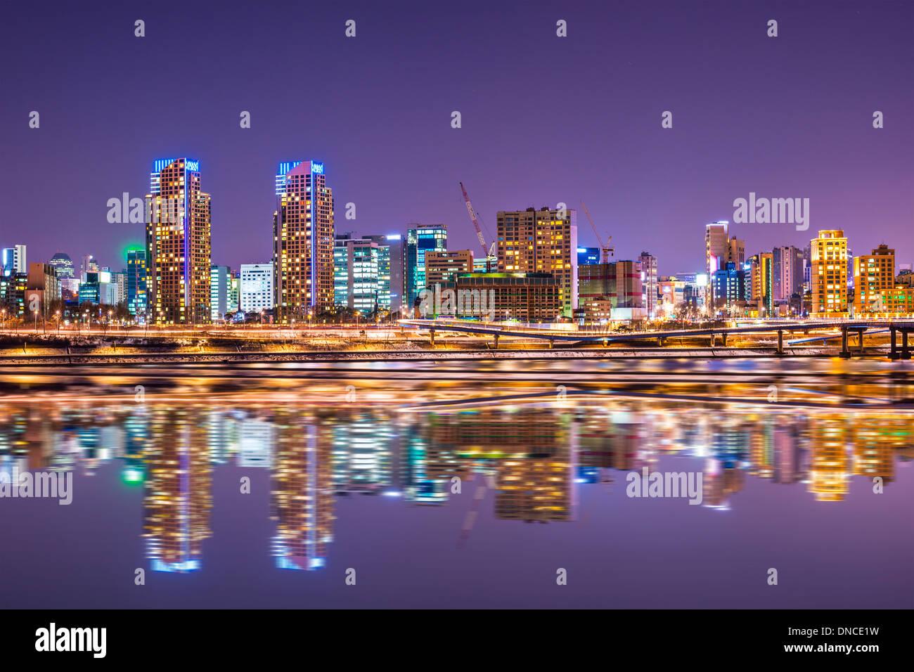 Seoul, Corea del Sud dello skyline della città Immagini Stock