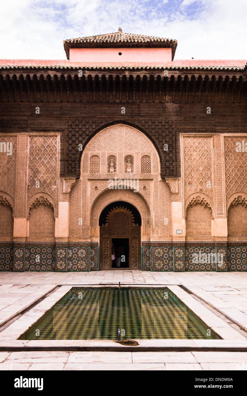 Medersa Ali ibn Yusuf, Marrakech, Marocco Immagini Stock