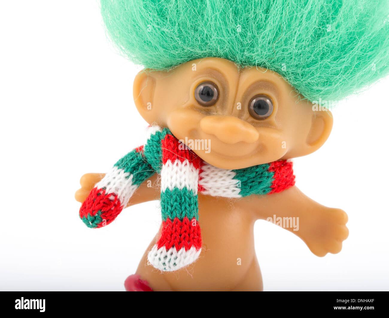 Troll Doll aka bambola diga creata per la prima volta 1959 da Thomas Dam. Immagini Stock