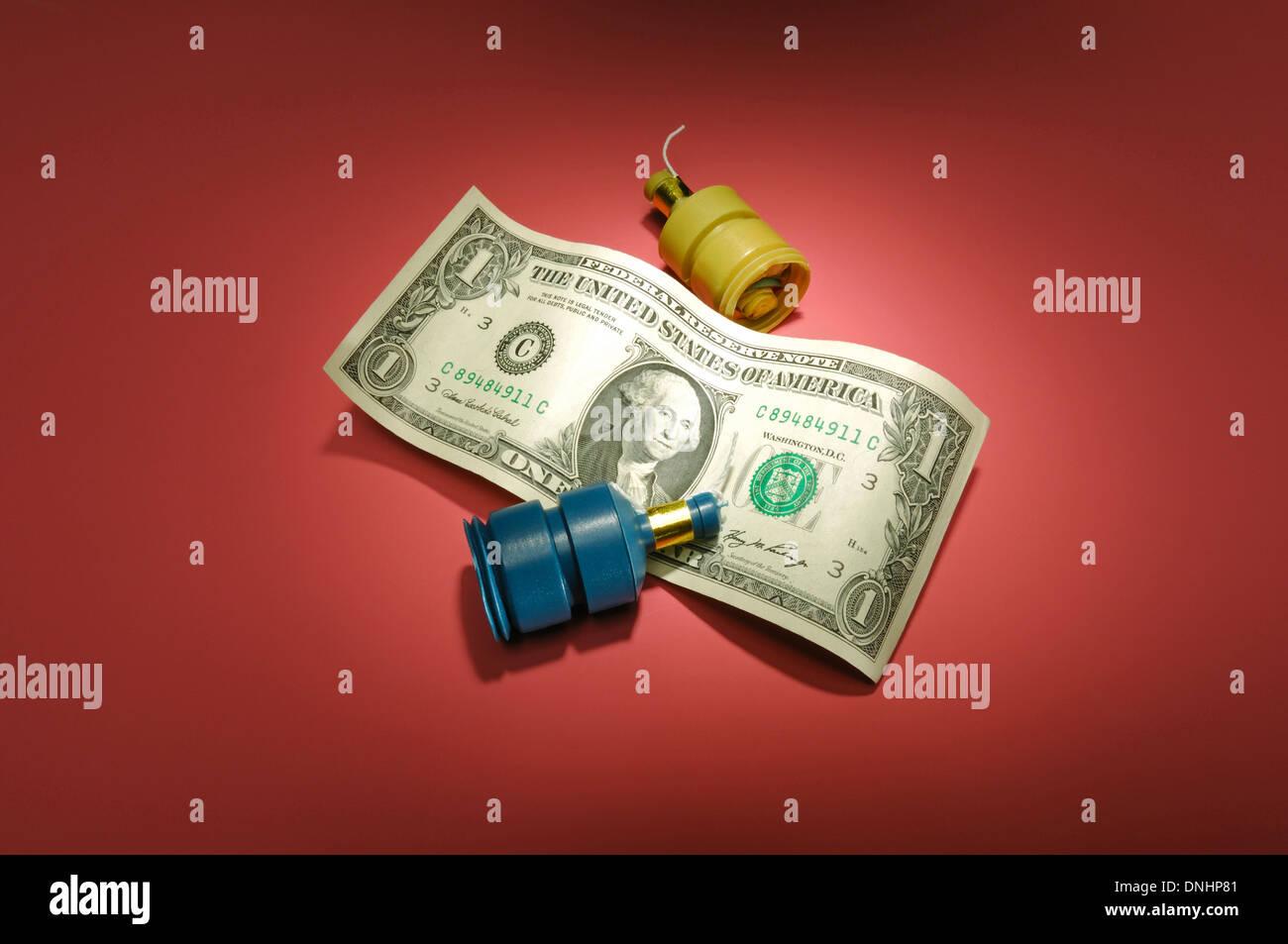 A noi un dollaro con i favori del partito. Immagini Stock