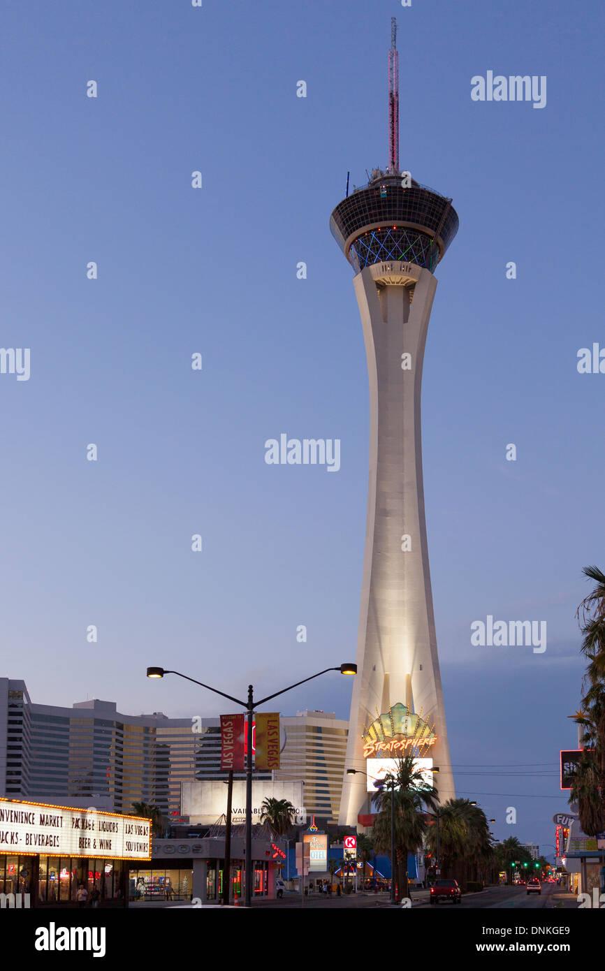 Stratosphere Tower su Las Vegas Boulevard,Las Vegas, Nevada Foto Stock