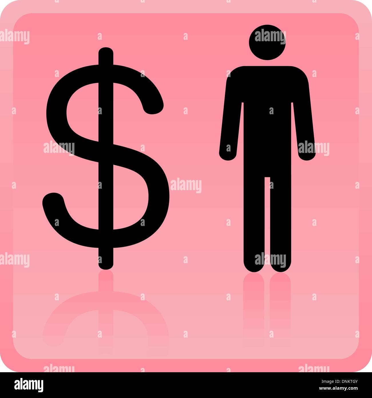 Il concetto di business. Illustrazione Vettoriale. Immagini Stock