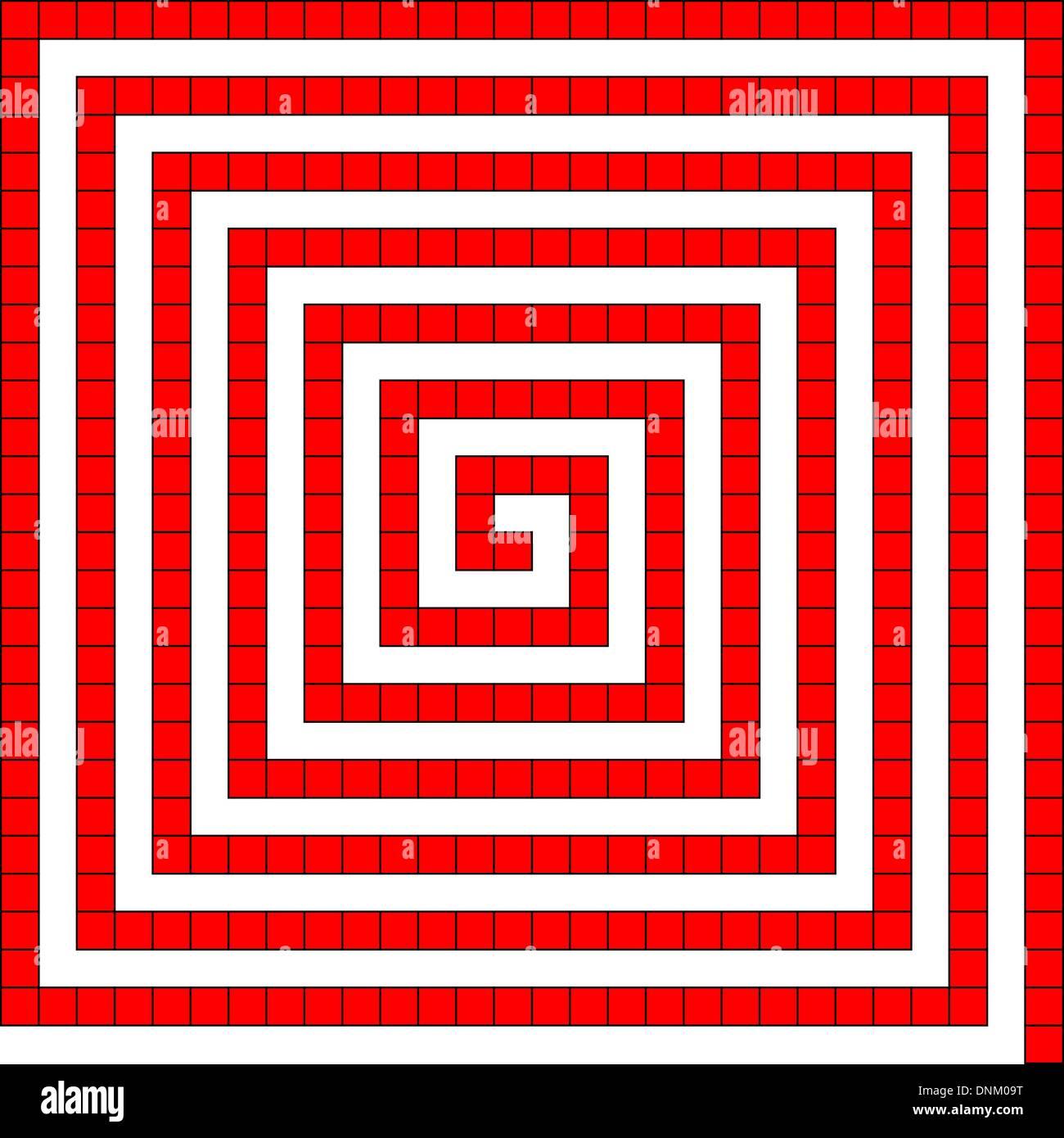 Il bianco e il rosso texture di sfondo astratto Immagini Stock
