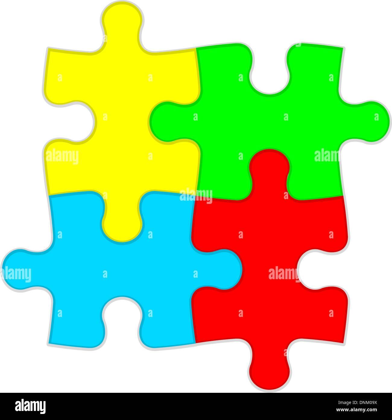 Sfondo illustrazione vettoriale puzzle Immagini Stock