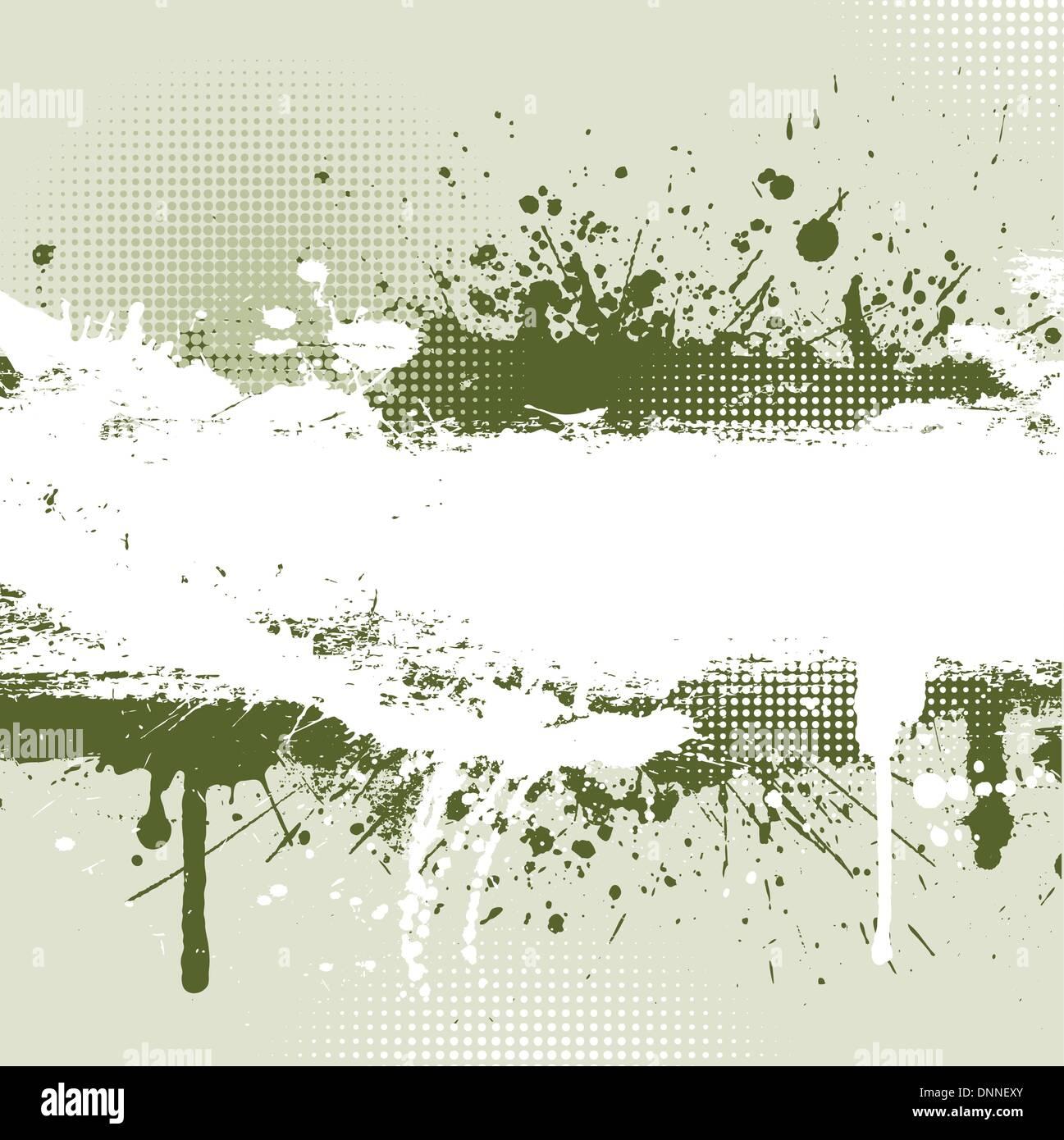 Dettagliato sfondo grunge con splats e gocciolamenti Immagini Stock