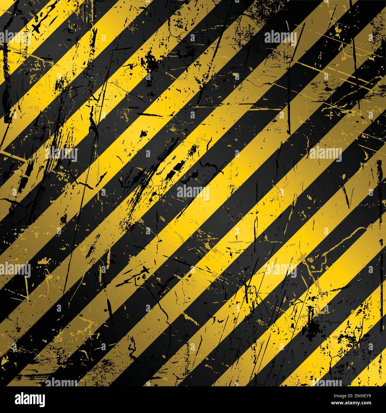 Textured grunge sfondo di costruzione in giallo e nero Immagini Stock