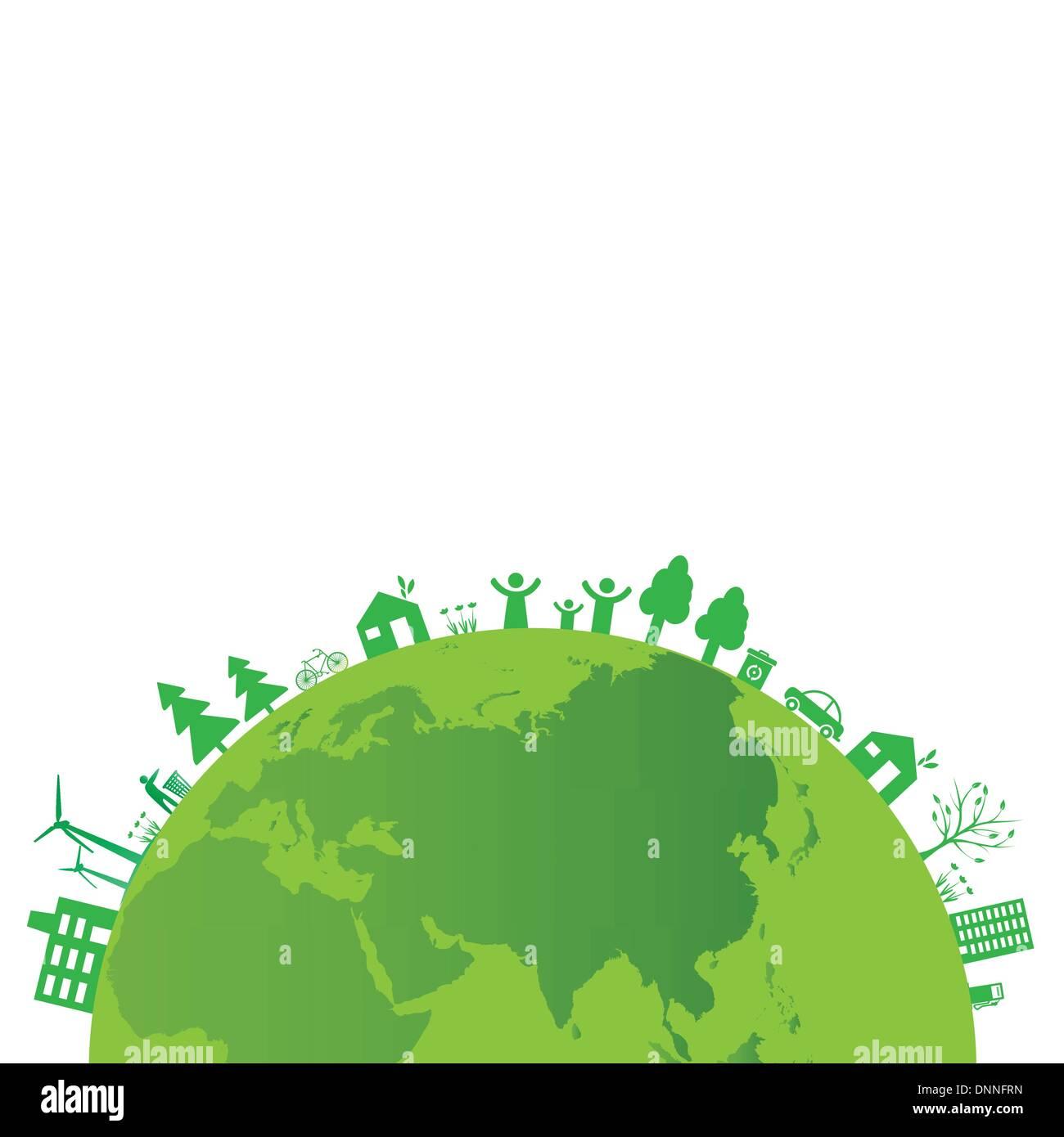 Concetto di ecologia è possibile utilizzare sul giorno di terra Immagini Stock